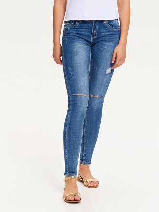 spodnie damskie jeansowe z dziurami TopSecret